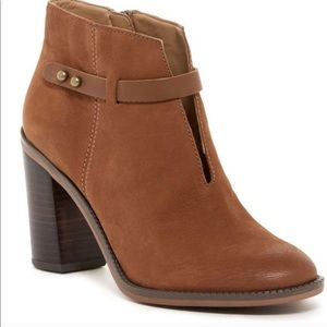 FRANCO SARTO Elvis Leather Bootie Brown 8.5